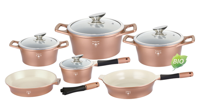 royalty line set  Royalty Line 10 Pcs Die Cast Ceramic Coating Cookware Set | Horus ...